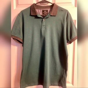 Cotton on green/grey polo